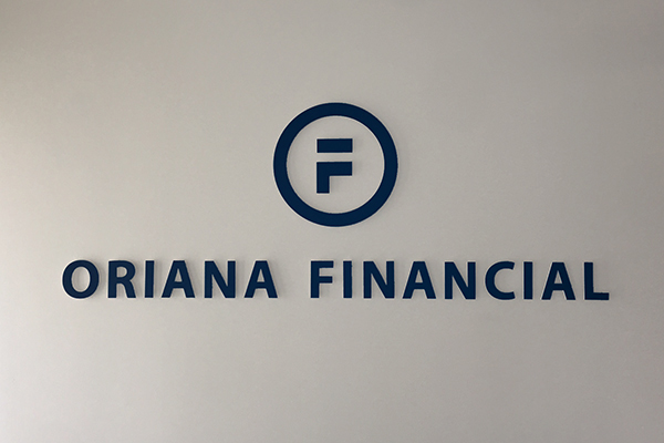 Logo for Oriana Financial made by Sign Nation.