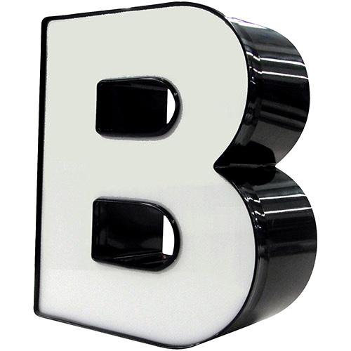 """Standard 3D channel letter - big letter """"B""""."""