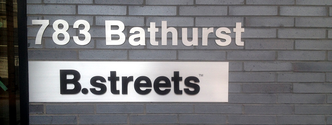 Bathurst street sign letters we made and installed.