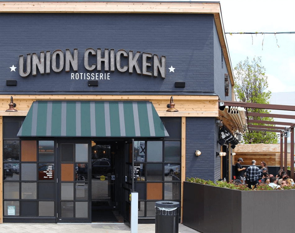 Signage for Union Chicken.