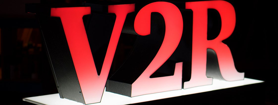 Giant cut out letters for V2R.