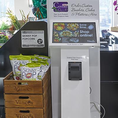A digital kiosk.