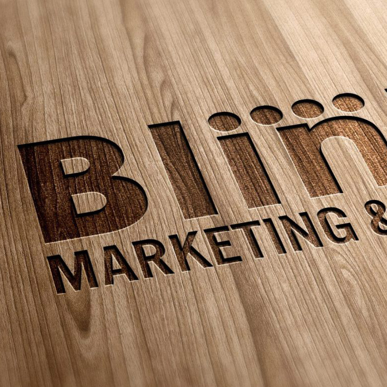 Blin Marketing storefront sign in Toronto.