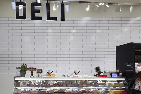 "Signage with the words ""deli""."