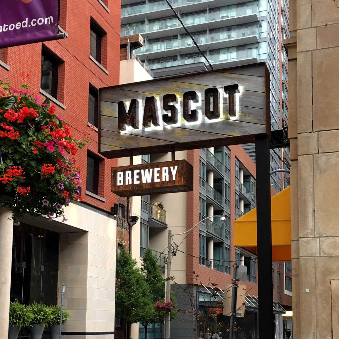 A sign custom-made for Mascot Brewery.