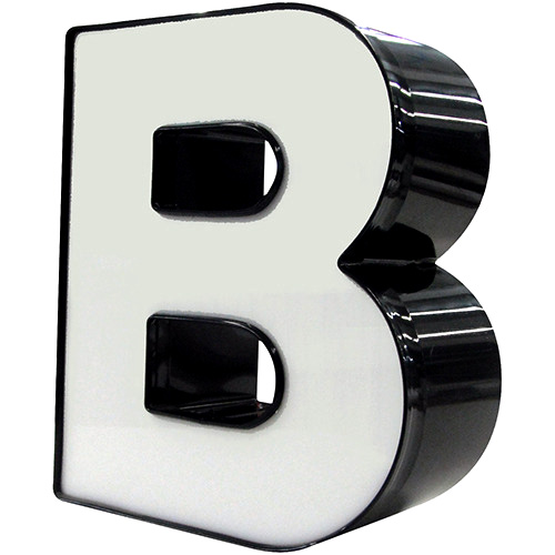 "Standard 3D channel letter - big letter ""B""."
