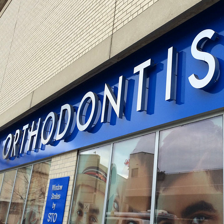 The business sign for STO Orthodontist.