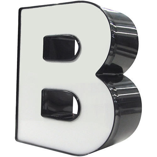 "3D ""B"" used for a restaurant sign."