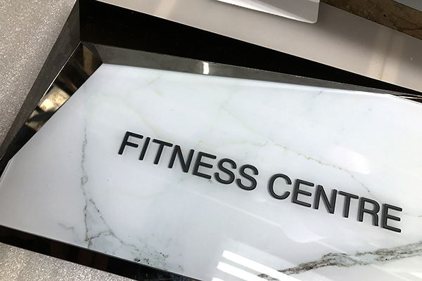 The channel letters for a fitness centre we installed.