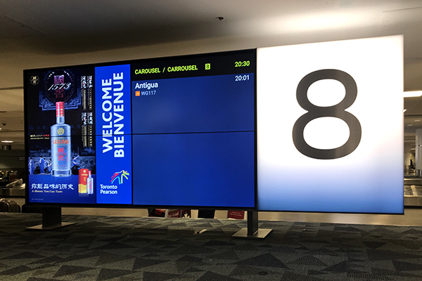 "Picture of a television screen with the number ""8""."