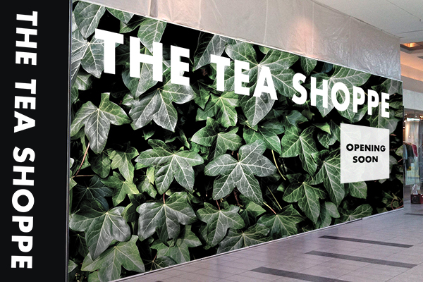 Tea Shoppe mall hoarding print